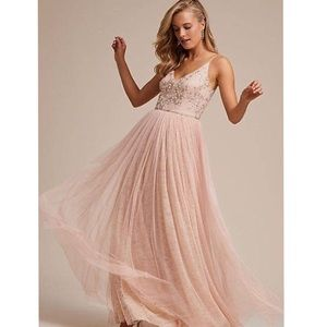 NWT Adrianna Papell Blush Dress Size 12